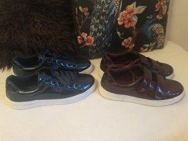 Fila Zapatillas con velcro azul acero-burdeos