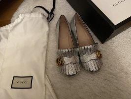 Neue originale Gucci Ballerinas in Silber