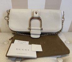Neue, Originale Gucci-Handtasche in cremeweiß mit goldener Hardware