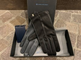 Piquadro Leather Gloves black-brown leather