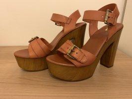 Görtz 17 Sandales à talons hauts et plateforme brun-beige