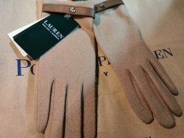 Ralph Lauren Guantes con dedos marrón claro