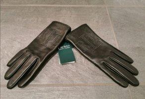 Ralph Lauren Leren handschoenen zwart Leer