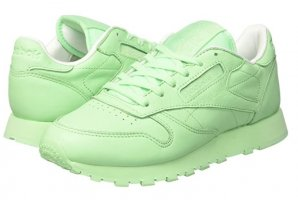 Neue Reebok Damen Leder Sneakers - Größe 36 - Mintgrün/Green X-Spirit Classic