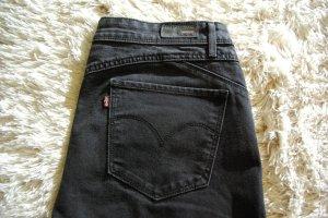 Neue Revel Demi Curve Skinny Leg Damen Jeans Mid Rise schwarz W31 L32