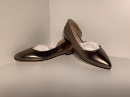 Anna F. Patent Leather Ballerinas gold-colored-sand brown leather