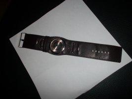 Analoog horloge bruin Imitatie leer