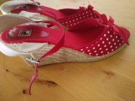 Fila Plateauzool sandalen wit-rood