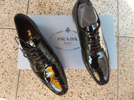 Neue schwarze PRADA Lackschnürschuhe in Gr. 36