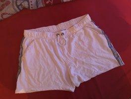 Neue Short in Weiß mit Glitzer