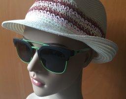 Emporio Armani Occhiale da sole rotondo marrone-nero-verde chiaro