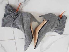 Zara Basic Bottines plissées argenté