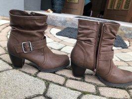 Graceland Bottines à enfiler brun