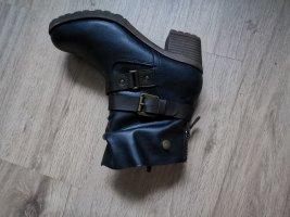 100% Fashion Botines de invierno azul oscuro