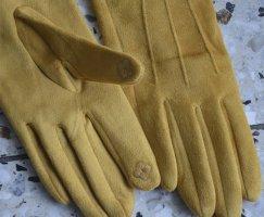 Gant à doigts jaune foncé coton