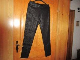 Laura Torelli Stretch Trousers black-silver-colored