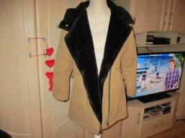 Winter Jacket sand brown-black polyester