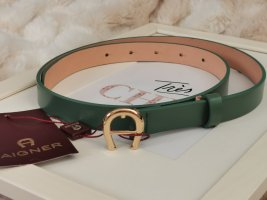 Aigner Leather Belt forest green