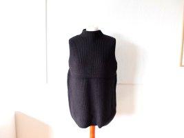 COS Cardigan long gris foncé-gris anthracite laine