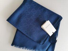 Gucci Sciarpa di seta blu-blu acciaio