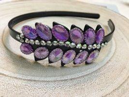 Headdress black-lilac
