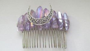 Handmade Accesorio para el pelo color plata-lila
