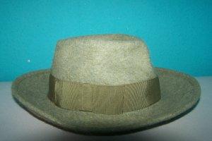 Felt Hat green grey mixture fibre