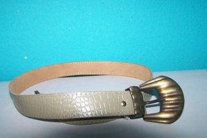 Cinturón de cuero gris Cuero