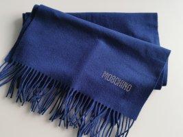 Neuer Moschino Schal Merin0 Wolle blau