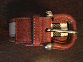 Burberry Leather Belt cognac-coloured-sand brown leather