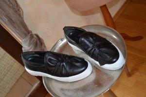 Neuer schwarzer Leder-Loafer von Kennel & Schmenger