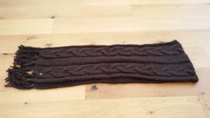 Seeberger Bufanda de lana marrón oscuro Lana