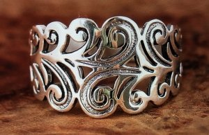 neuer Silber Damenring Gr. 19 mm