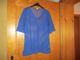 Coarse Knitted Sweater blue cotton