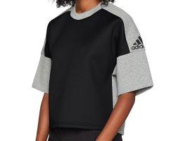 NEUES Adidas Shirt Grau Schwarz Neopren Size M