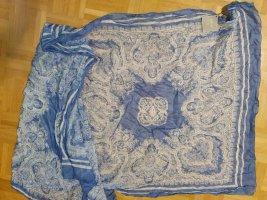 Ahmaddy Zijden doek staalblauw-wit Zijde