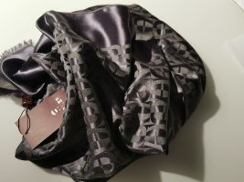 Aigner Silk Scarf silver-colored-anthracite silk
