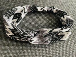 Neues Haarband - schwarz/grau/weiß