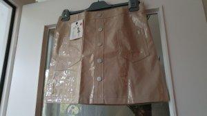 1.2.3 Paris Leather Skirt beige imitation leather