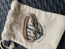Paul Hewitt Bracelet en argent argenté-beige