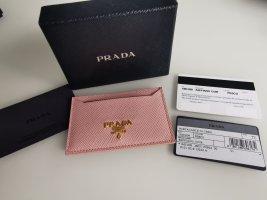Neues Prada Kartenetui in Rosé mit Zertifikat und Box