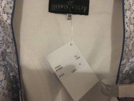 Berwin & Wolff Dirndl neon blue-silver-colored cotton
