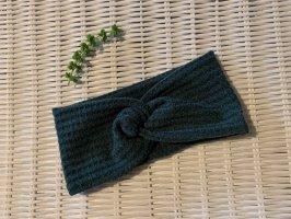 Cappello in tessuto verde scuro-petrolio