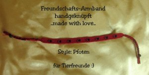 Neues, supercooles Armband, Freundschaftsband mit Mini-Lavasteinkugeln ..Pfoten/Tatzen.. handmade
