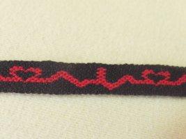 Bracelet brésilien noir-rouge coton