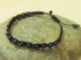 Pearl Bracelet dark blue-black mixture fibre