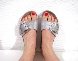 Birkenstock Comfortabele sandalen camel-zilver Leer