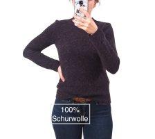 NEUw. Hessnatur Tweed Pullover Gr. 34 aus 100% Wolle Öko Bio
