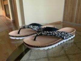 Boutique Sandały korkowe  czarny-srebrny