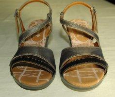 Art Sandales à lanière argenté-gris brun
